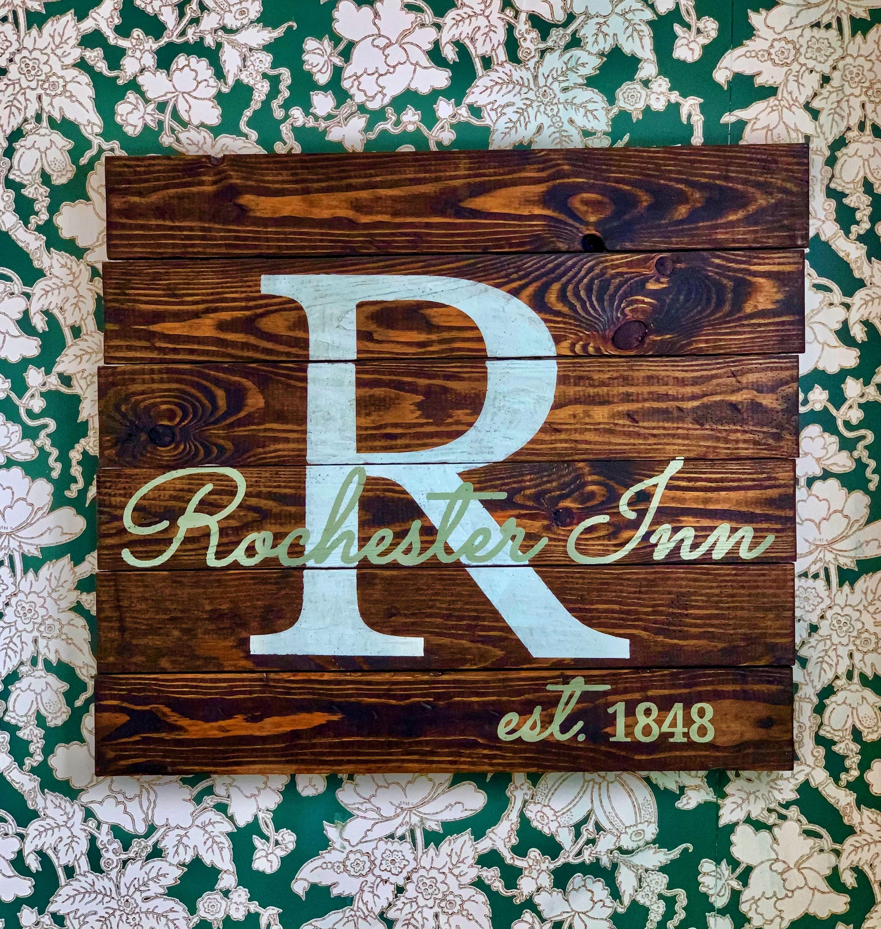 The Rochester Inn sign