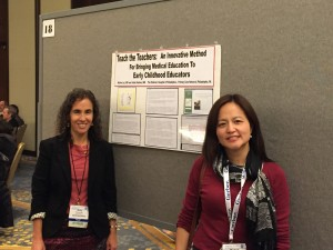 Two peds in a pod presenting a poster at the 2015 AAP conference