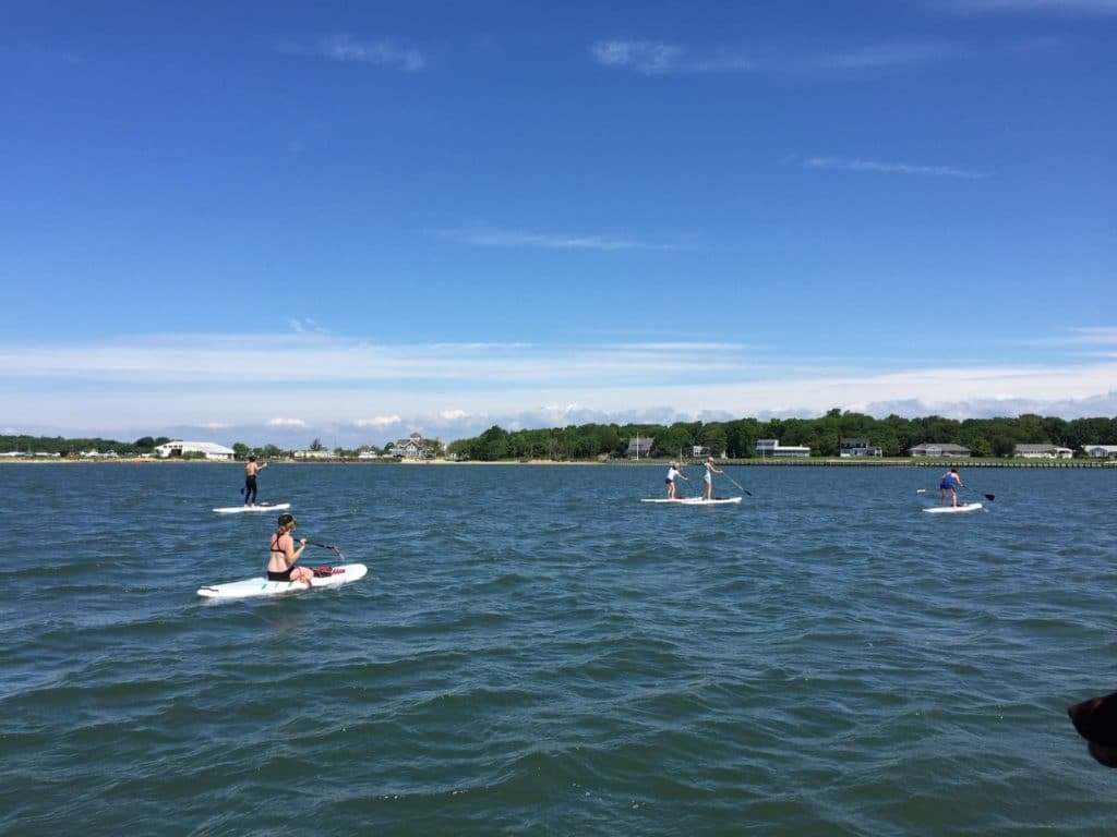 Stand Up Paddle Tour with Peconic Water Sports in Greenport, Long Island, New York on Rental SUP Boards