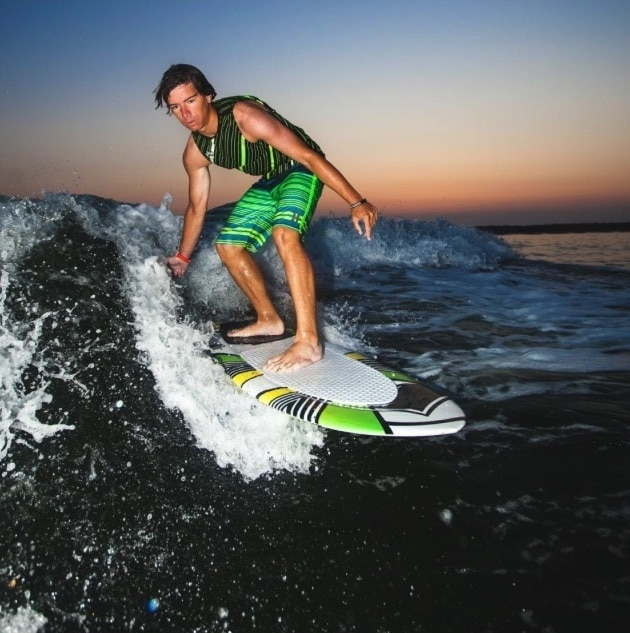 Kevin Diffley- Peconic Water Sports Jet Ski Tour Guide Wakesurfing in the Hamptons in Long Island, New York