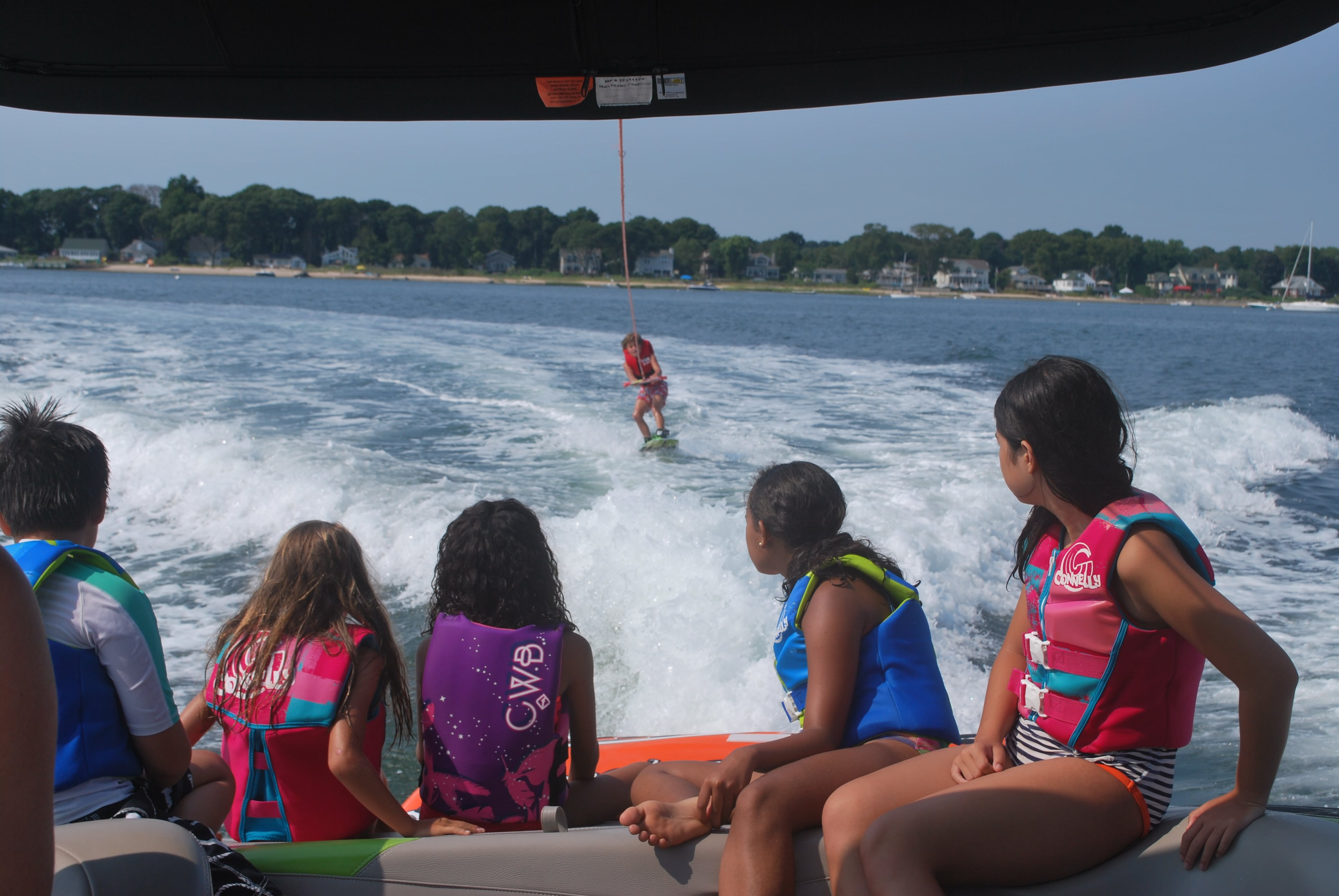 Peconic Water Sports Kids Wakeboarding and Wakesurfing Camp in the Hamptons near Sag Harbor, Long Island, New York