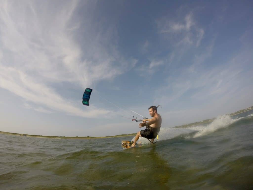 Matt Flotteron - Kiteboarding with Peconic Water Sports in the Hamptons near Southampton, Long Island, New York
