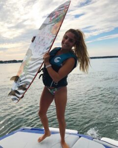 dani inzerillo wake surfing with peconic water sports