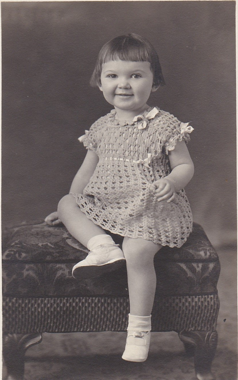 Shirley as a toddler