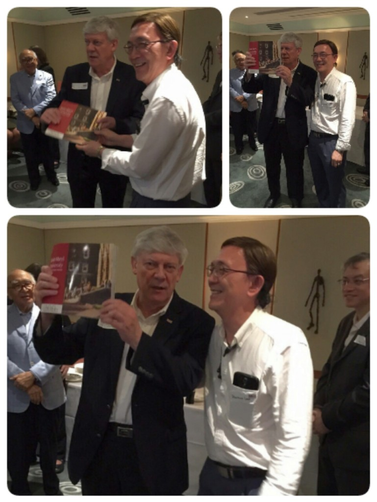 A special book of remembrance of the 200th Anniversary of SMU was presented to