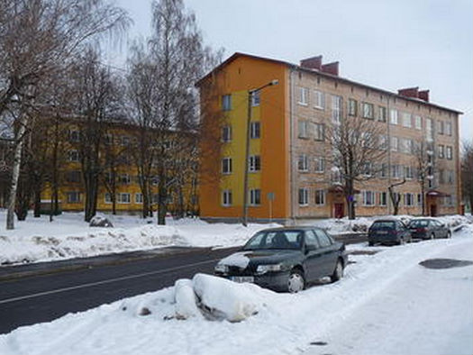 Photo of Krushchev-era apartment buidlings in Estonia,