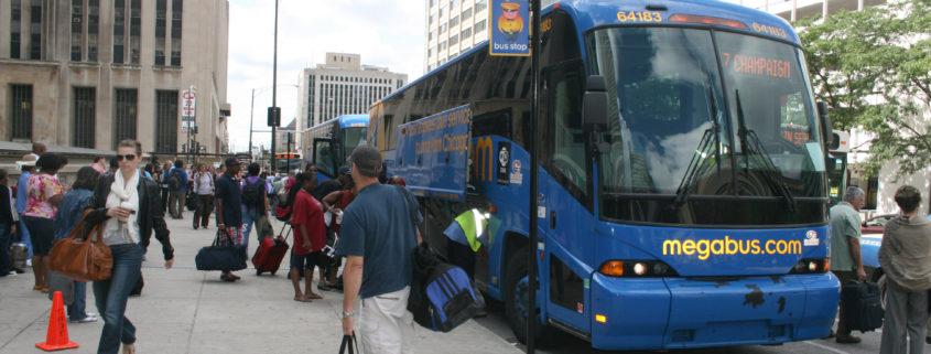 Megabus Stop in Chicago, photo credit: Jeramey Jannene via Flickr: