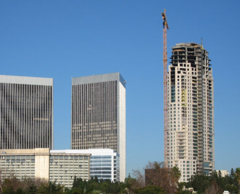 construction of high rise condos in Los Angeles