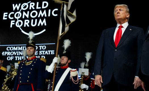 President Donald Trump at WEF