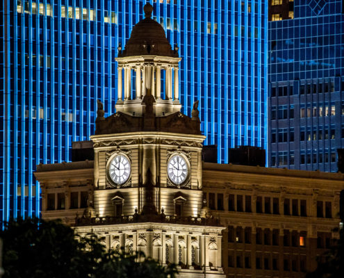 Polk County Courthouse at night