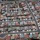 Aerial photo of California suburbs