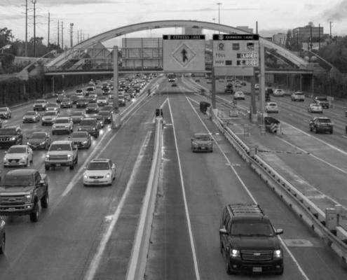 Houston, TX HOV lane on Highway 69