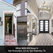 What $800K buys in San Francisco vs. San Antonio