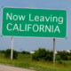 leaving california sign along highway