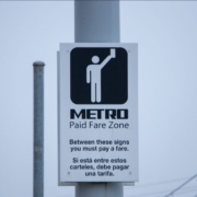 Houston METRO transit sign