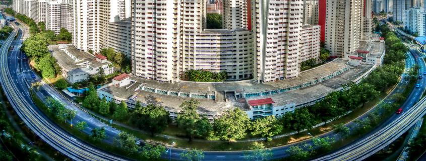 Urban high rise housing in Singapore