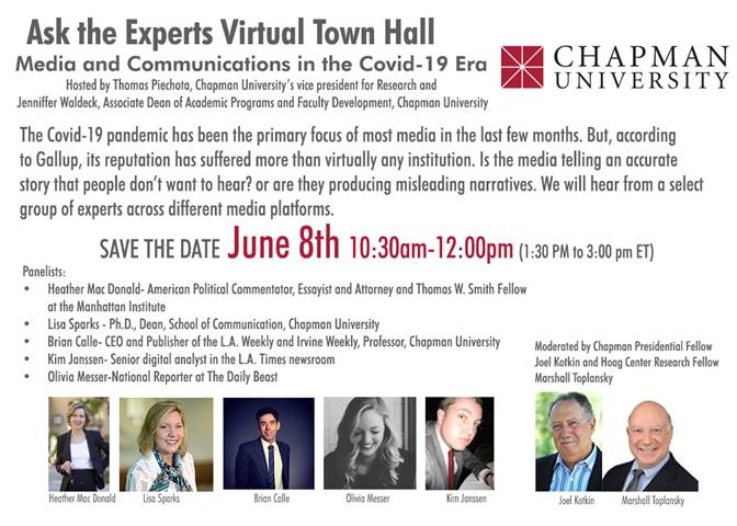 Virtual Town Hall: The Future of Communication on June 8