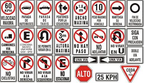 Costa Rica road signs