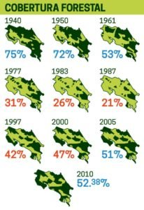 Changes in forest cover