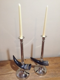 Horn Candle Holders