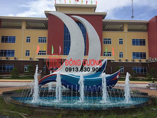 Đài phun nước Trung Tâm Hành Chánh Huyện Trần Đề