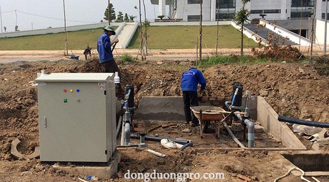 Tủ điều khiển và hệ thống lọc Azud lọc nước từ sông