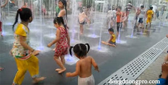 sàn phun nước Tân Sơn Nhất