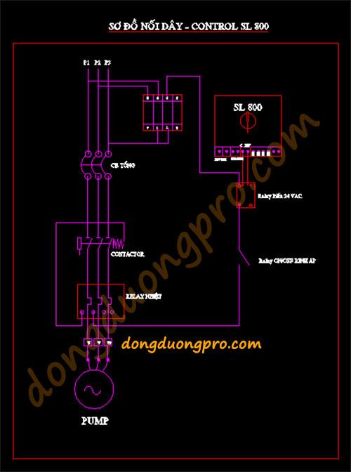 Sơ đồ tủ điện lắp đặt thiết bị tưới tự động