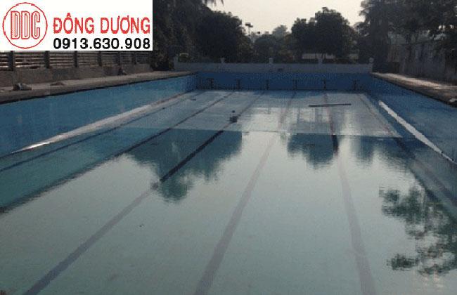 Bể bơi thi đấu hoàn thành