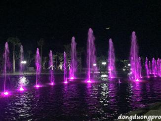 Đài phun nước hồ tự nhiên Vsip Quảng Ngãi
