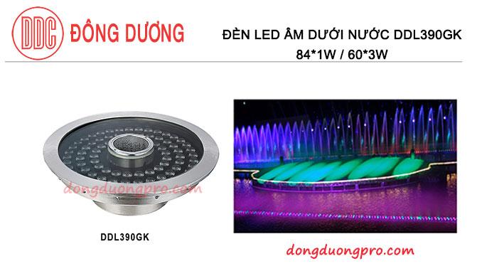 Đèn Led có lổ ở tâm để đặt vòi phun - DDL-390GK