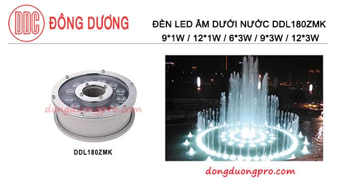 Đèn LED âm dưới nước Model-DDL 180ZMK - Đèn led âm nước đài phun nước