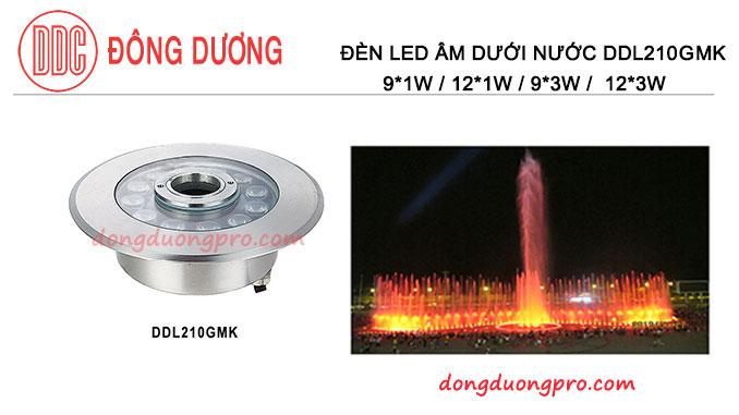 ĐÈN LED CHIẾU SÁNG ĐÀI PHUN NƯỚC, ĐÈN LED CHIẾU SÁNG DƯỚI NƯỚC - DDL-210GMK