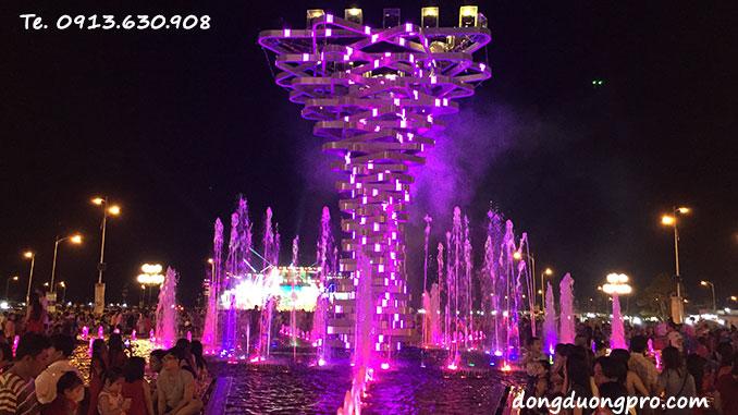 Nhạc nước nghệ thuật Vòng Xoay Kiên Giang