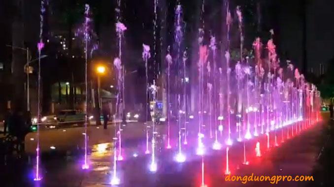 Lắp đặt sàn nhạc nước công viên Văn Lang