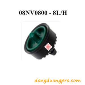 Đầu tưới nhỏ giọt bù áp 8L/H Navia Azud