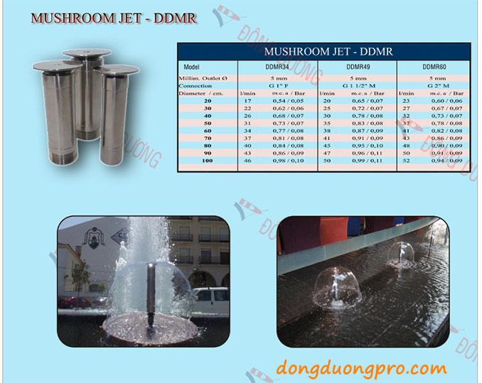 Vòi phun hình nấm - Catalogue thiết bị phun nước