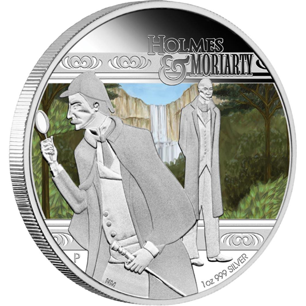 Sherlock Holmes & Professor Moriarty Featured on 2011 Tuvalu Dollar Coin