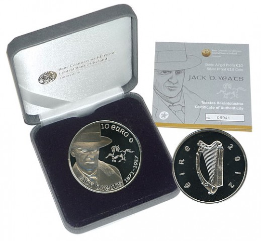 2012 Yeats Coin in Holder a