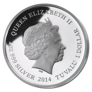 Tuvalu $1 2014 Obverse