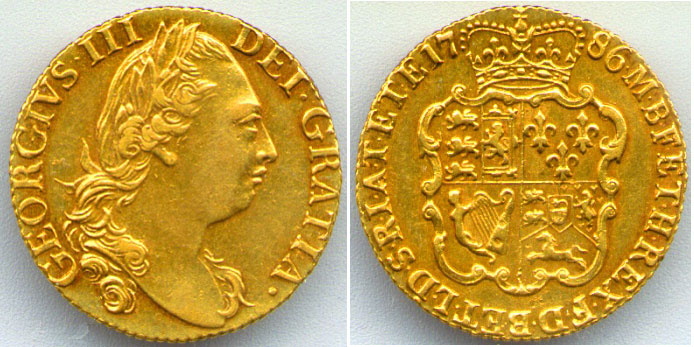 1786 Gold Guinea