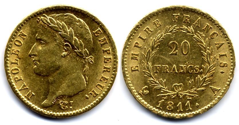 1811 France 20 Francs