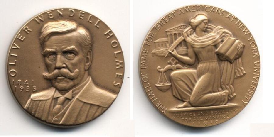 OW Holmes HOF Medal