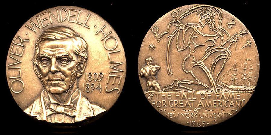 OW Holmes Sr HOF Medal