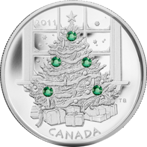 2011 Canada $20 Christmas Tree Coin