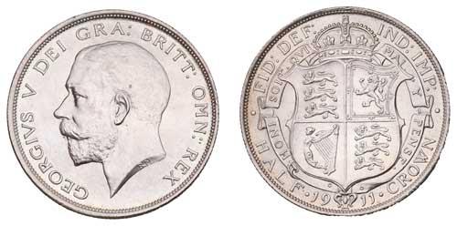 1911 George V Half Crown