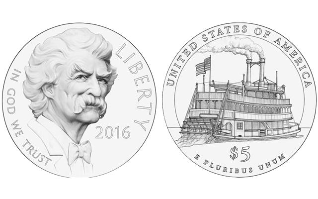 Twain Gold $5 Dollar Designs