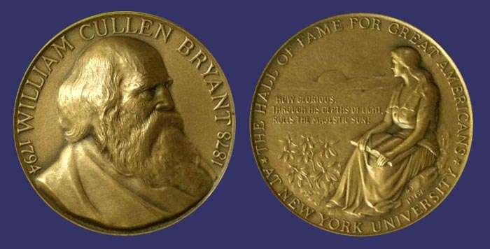 William Cullen Bryant Hall of Fame of Great Americans Medal, 1967