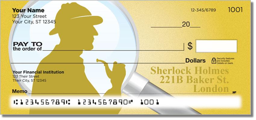 Get Sherlock Holmes Themed Personalized Checks