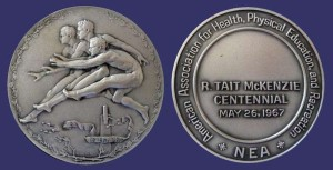 One of the many medals featuring a revised version of McKenzie's Joy of Effort